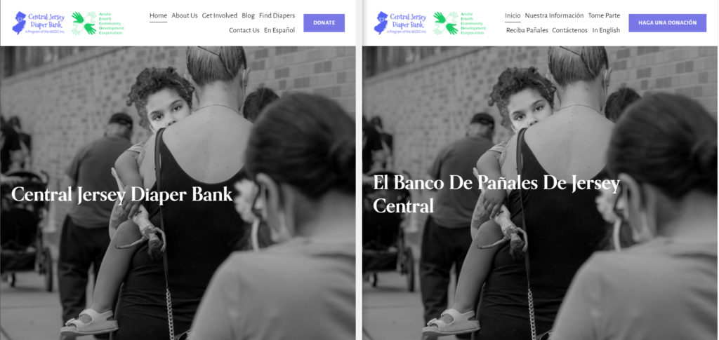 English and Spanish Site Comparison